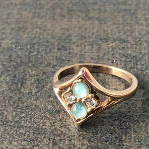 Avon Ring Small Avon Ring Gold & Blue 💝2/$20